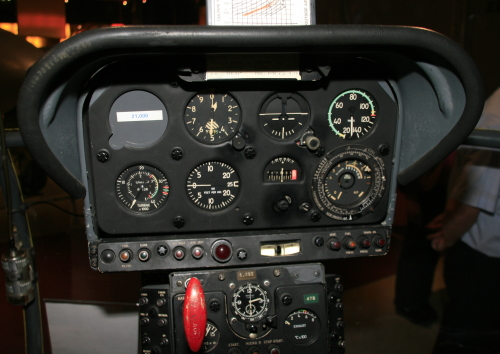 Helicopter instrument panel (analog)
