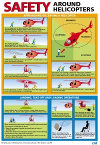 Helicopter safety poster
